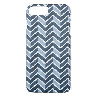 Motif de Chevron de bleu marine Coque iPhone 8 Plus/7 Plus