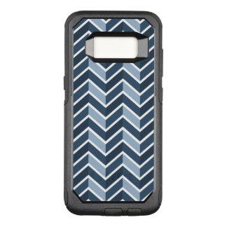 Motif de Chevron de bleu marine Coque Samsung Galaxy S8 Par OtterBox Commuter