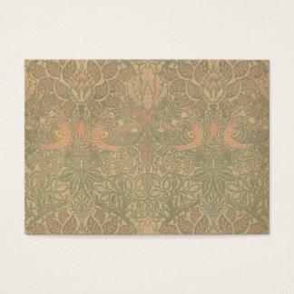 Motif de colombe et de rose de William Morris Cartes De Visite
