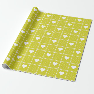 Motif de contrôleur d'amour de coeurs avec des papier cadeau