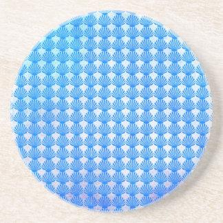 Motif de coquilles dessous de verre en grès