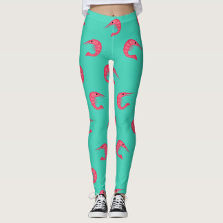 Motif de crevettes roses leggings