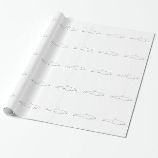 Motif de dauphins papier cadeau