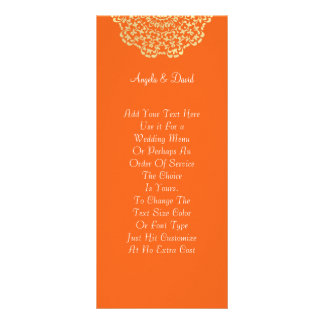 Motif de dentelle d'or orange de Brown Carte Publicitaire
