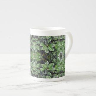 Motif de feuille d'arbre en caoutchouc mug