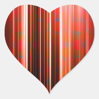 Motif de filets de lumière rouge sticker cœur