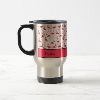 Motif de flamant mug de voyage