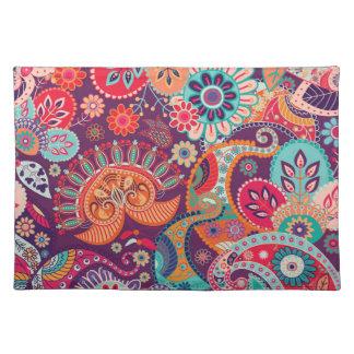 Motif de fleur chic de Boho de hippie de Bohème de Sets De Table