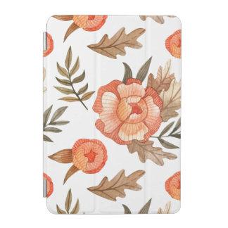 Motif de fleur tiré par la main de batik d'automne protection iPad mini