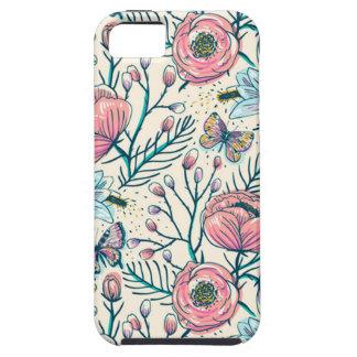 Motif de fleur vintage Girly de roseraie Coque Case-Mate iPhone 5
