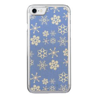 Motif de flocon de neige coque carved iPhone 8/7