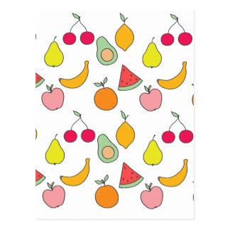 motif de fruit carte postale