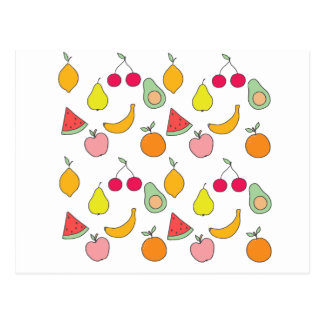 motif de fruit cartes postales