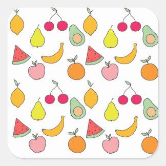 motif de fruit sticker carré