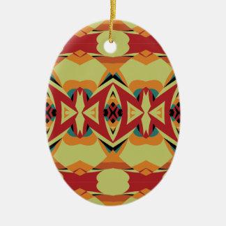 Motif de Gometric Ornement Ovale En Céramique