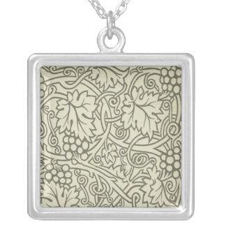 Motif de Grapevile William Morris de vert sauge Collier