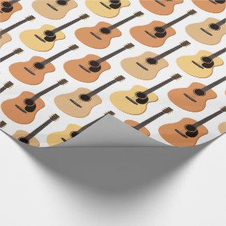 Motif de guitares acoustiques papiers cadeaux noël