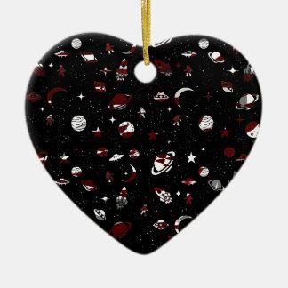 Motif de l'espace ornement cœur en céramique