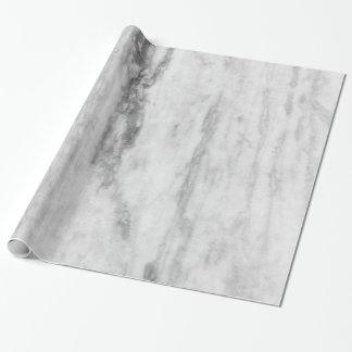 Motif de marbre blanc et gris de texture papiers cadeaux