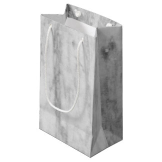 Motif de marbre blanc et gris de texture petit sac cadeau