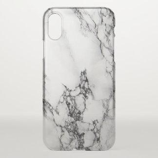 Motif de marbre gris-clair et noir coque iPhone x