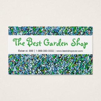 Motif de mosaïque de carte de visite de fleuriste