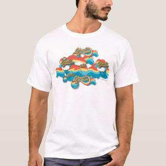 Motif de nuages d'arc-en-ciel de femme de t-shirt