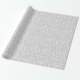 Motif de pandas de danse d'amusement papier cadeau