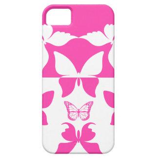 Motif de papillon rose et blanc 1 étuis iPhone 5