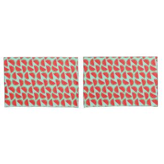 Motif de pastèque - taies d'oreiller