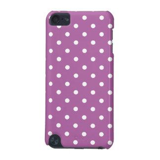 Motif de point pourpre de polka d'orchidée coque iPod touch 5G