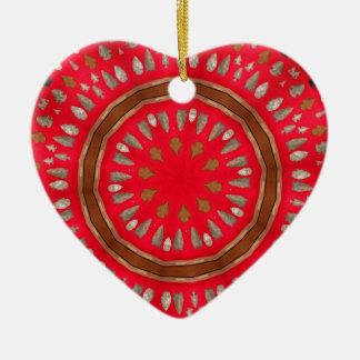motif de pointe de flèche ornement cœur en céramique
