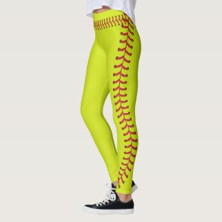 Motif de points de couture de boule du base-ball leggings