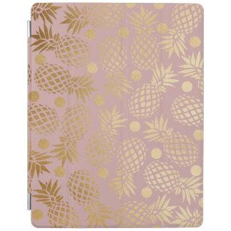 motif de pois élégant d'ananas de feuille d'or protection iPad