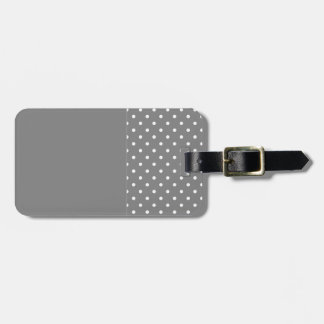 Motif de pois gris étiquette à bagage