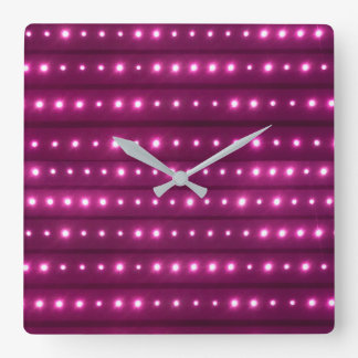 Motif de rayures de galaxie horloge carrée
