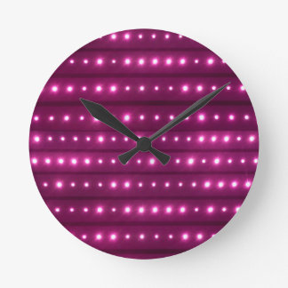 Motif de rayures de galaxie horloge ronde