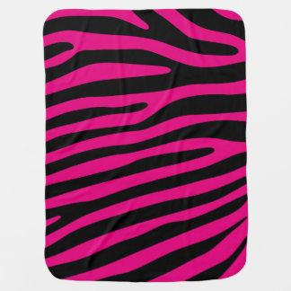 Motif de rayures de zèbre + votre arrière - plan couvertures pour bébé