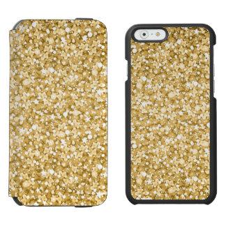 Motif de scintillement d'or coque-portefeuille iPhone 6 incipio watson™