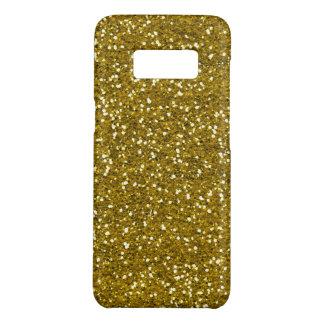 Motif de scintillement d'or de Faux Coque Case-Mate Samsung Galaxy S8