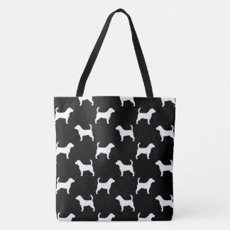 Motif de silhouettes de beagle sac