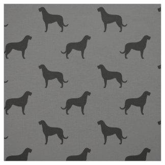 Motif de silhouettes de chien-loup irlandais tissu