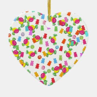 Motif de sucrerie ornement cœur en céramique