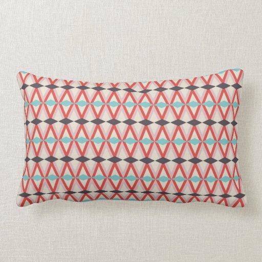 Motif de tissage aztèque turquoise assez rouge de  coussin