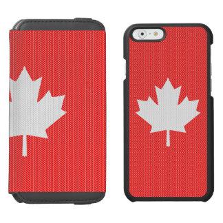 Motif de tricot de feuille d'érable de style de coque-portefeuille iPhone 6 incipio watson™