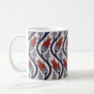 Motif de tulipe d'empire de tabouret mug