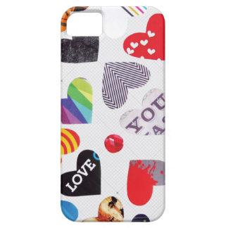 Motif de Valentines de coeur Coque Barely There iPhone 5