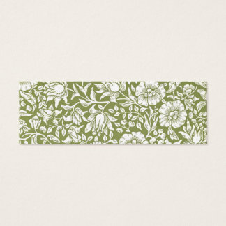 Motif de vert de mauve de William Morris Mini Carte De Visite