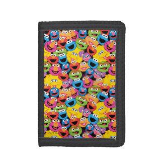 Motif de visages de caractère de Sesame Street
