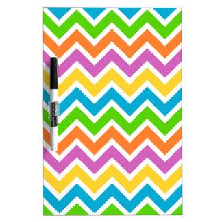 Motif de zigzag coloré tableaux effaçables blancs